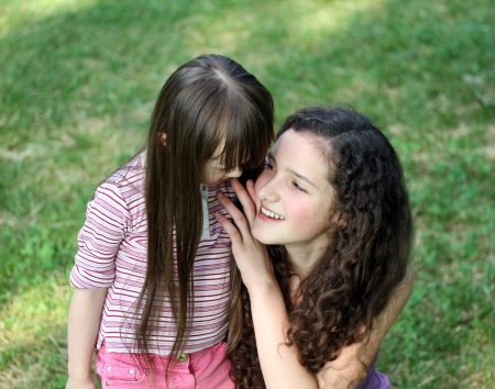 Portrait of beautiful young girls in the park Stock Photo - 14709440