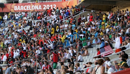 Fans on the 2012 IAAF World Junior Championships on July 13, 2012 in Barcelona, Spain