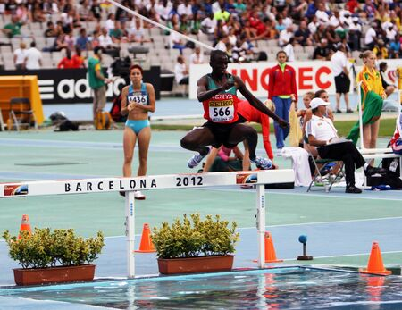 gilbert: BARCELONA, SPAIN - JULY 15  Gilbert Kiplangat Kirui silver medalist of 3000 Metres Steeplechase on IAAF World Junior Athletics Championships on July 15, 2012 in Barcelona, Spain