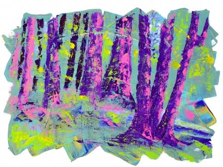 remarkable: Beautiful Original Acrylic Painting Landscape On Canvas