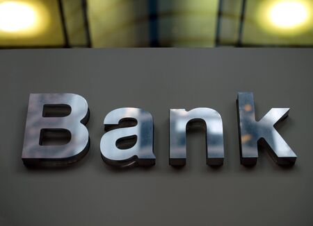 Bank business corporation office sign Stock Photo - 16027796