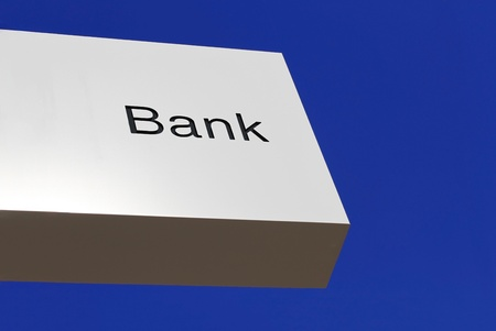 Bank business corporation office sign Stock Photo - 16113248