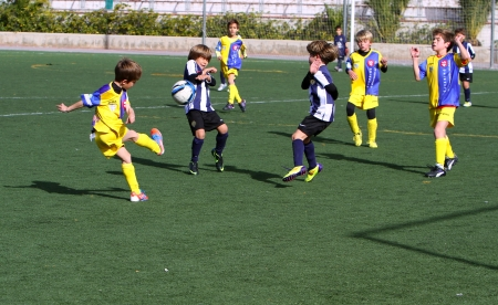 Boys on the Alicante City Youth Soccer Cup on December 1, 2012 in Alicante, Spain Editorial