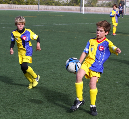 junior soccer: Boys on the Alicante City Youth Soccer Cup on December 1, 2012 in Alicante, Spain
