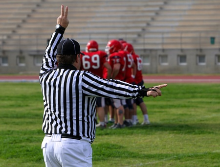 Referee on the American Football Game photo