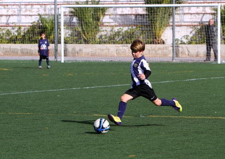 junior soccer: Boys on the Alicante City Youth Soccer Cup on December 1, 2012 in Alicante, Spain. Editorial