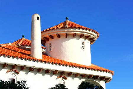 spanish landscapes: Top of spanish style roof