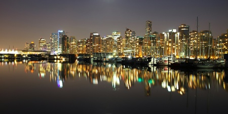 Vancouver downtown night, Canada BC photo