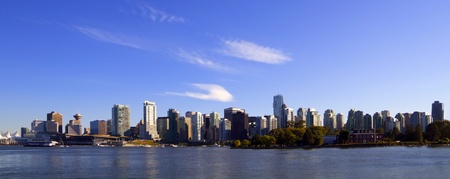 bc: Vancouver downtown panoramic cityscape, Canada BC . Stock Photo