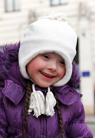 Portrait of beautiful happy girl Stock Photo - 18267013