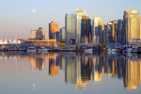 Vancouver downtown evening, Canada BC photo