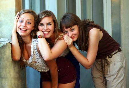 Studenten Mädchen Spaß Lizenzfreie Bilder