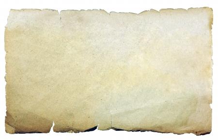 Weinlesebeschaffenheit alten Papier Hintergrund isoliert auf weiß Standard-Bild