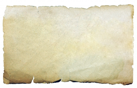 Weinlesebeschaffenheit alten Papier Hintergrund isoliert auf weiß Lizenzfreie Bilder