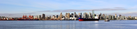 vancouver: Vancouver Canada panoramic cityscape.
