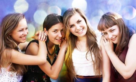 school of life: Students girls having fun