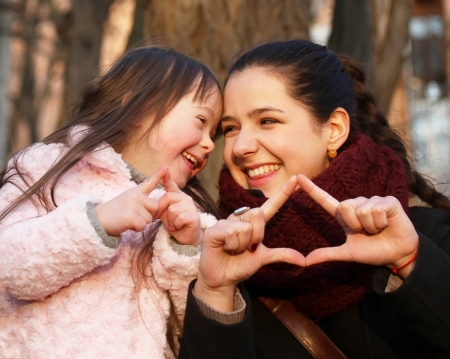 Family moments - Mother and child have a fun. photo