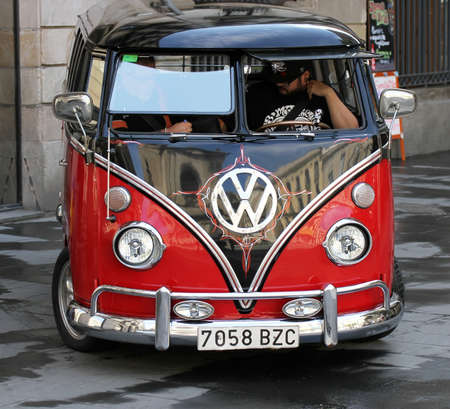 transporter: Volkswagen old car Editorial