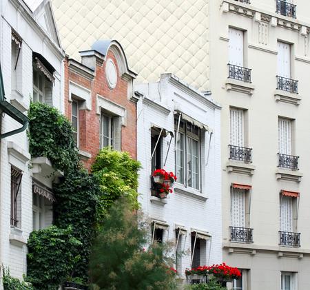typical: Paris Montmartre typical facade