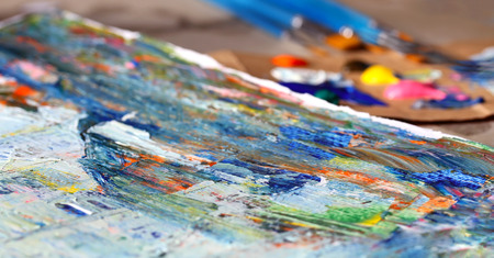 Art painting with acrylic colors Stock Photo
