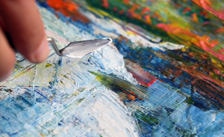 art painting: Art painting with palette knife