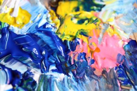 art palette: Closeup background of artist palette.