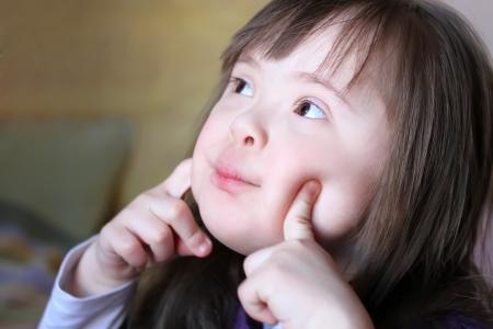 Portret van mooie jonge meisje Stockfoto