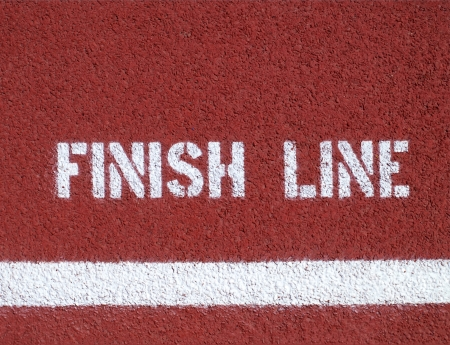 Finishlijn - teken op de atletiekbaan