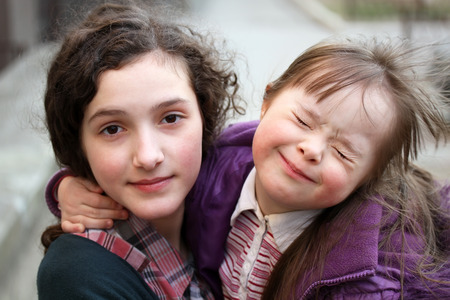 downs syndrome: Happy family moments