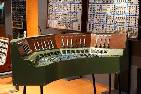 audio: Old audio recording studio Stock Photo