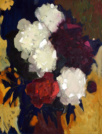 remarkable: Oil painting of the beautiful flowers