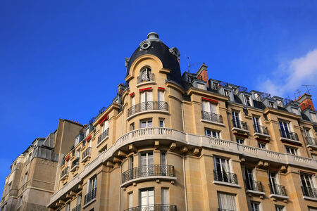 penthouse: Penthouse Apartments of Paris Stock Photo