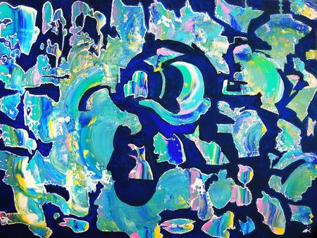 Art peinture abstraite avec des couleurs acryliques Banque d'images - 36355584