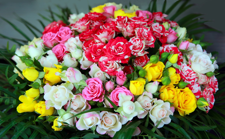 florist shop: Beautiful bouquet of flowers in the shop