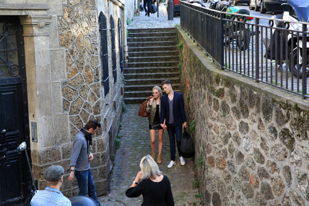 filming: Filming on Montmartre in Paris, France on 24.04.2015 Editorial