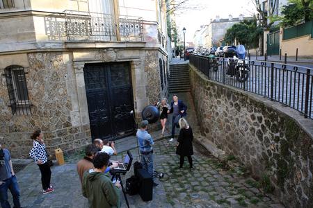 프랑스 파리의 몽마르뜨에서 촬영 (24.04.2015)