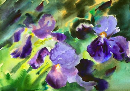 remarkable: Watercolor painting of the beautiful flowers.