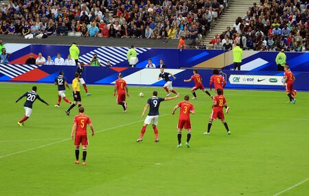 France-Belgium football match At the Stade de France, June 7, 2015