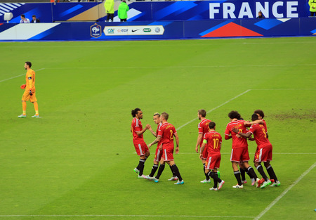 belgique: France-Belgium football match At the Stade de France, June 7, 2015