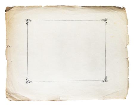 ビンテージ テクスチャ古い紙背景白で隔離
