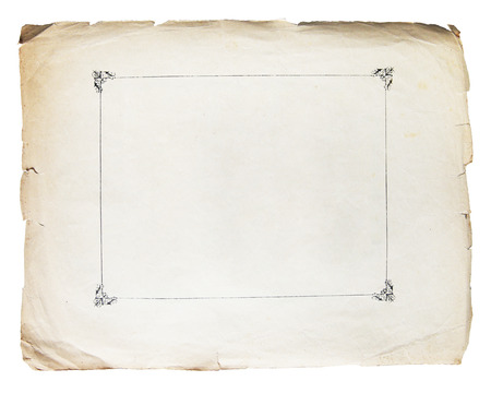 papel quemado: Textura vintage fondo de papel viejo aislado en blanco