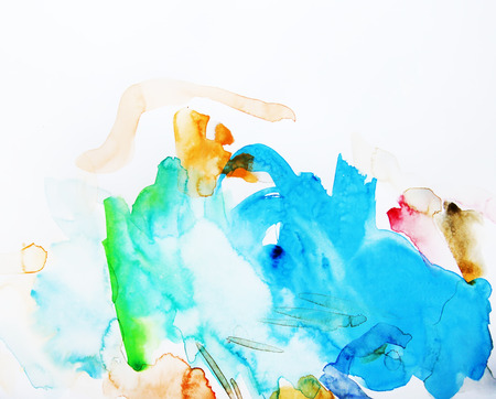 artists: Abstract watercolor painting
