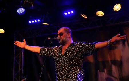 Boris Grebenshikov - russian singer playing in New Morning jazz club on September 27, 2015 in Paris, France. Editorial