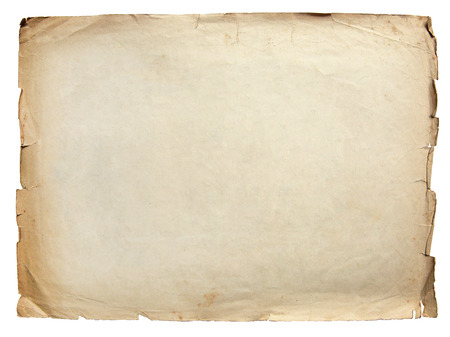 Jahrgang Textur alten Papier Hintergrund isoliert auf weiß Lizenzfreie Bilder