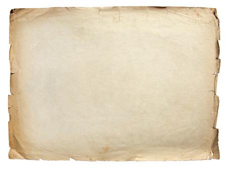 Vintage textuur oud papier achtergrond geïsoleerd op wit