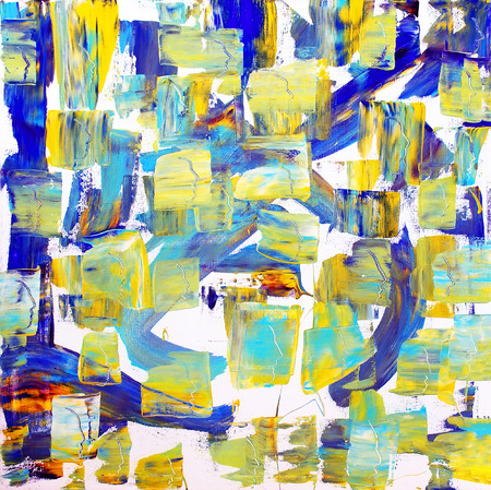 remarkable: Abstract colorful painting of the faces