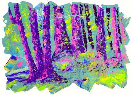 rural india: Beautiful Original Acrylic Painting Landscape On Canvas