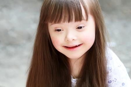 sick kid: Portrait of beautiful girl