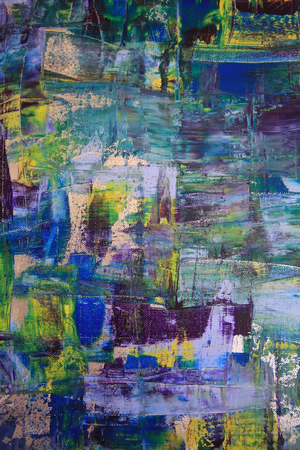 abloom: Abstract art background. Oil painting on canvas. Multicolored bright texture. Fragment of artwork. Spots of oil paint. Brushstrokes of paint. Modern art. Contemporary art.