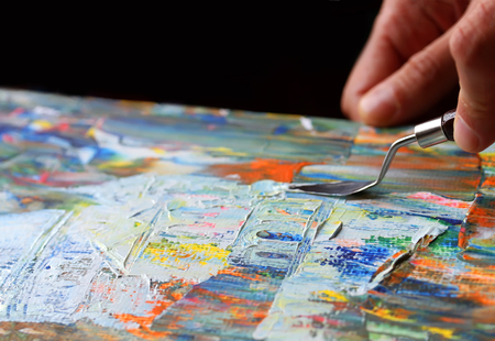 Art painting with palette knife